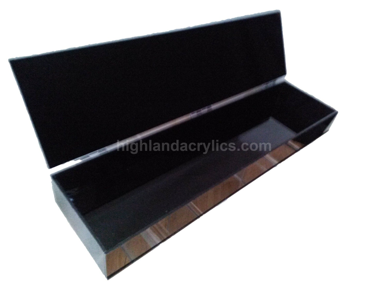 Acrylic Boxes Custom Made : Black acrylic box custom hand made by