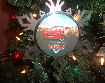 Disney Cars Lightning McQueen Snowflake Ornament Free Personalization