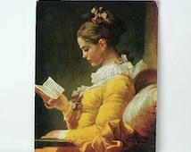 Young Girl Reading Art Print