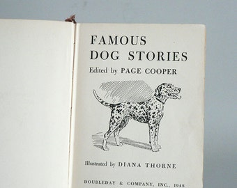 1948 Childrens Book Of Dogs Stories