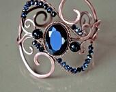 "Bracelet ""Black Lake"" Bracelet ""Black Lake"" Cooper Jewelry Jewelry made of copper Wire Wrap Bracelet  Agate Сrystal"