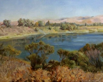 Fall. Quarry Lakes (oil painting)