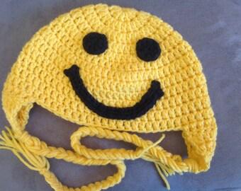 Smiley Face Crochet Hat