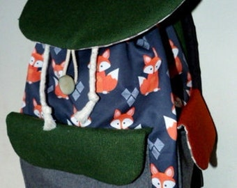 Sew Foxy Drawstring Backpack