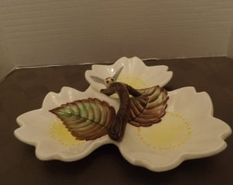 ESD Three Section Candy/Treat Dish # 7926 - Marked