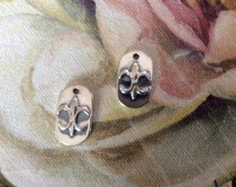 sterling silver FLEUR DE LIS charm 1 pc