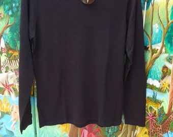 Vintage Valerie Stevens Classic Black Sweater Petite Medium Pure Silk