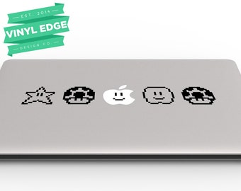 Super Mario 8-bit Laptop Vinyl Custom Decal Skin for Laptop and Apple Macbook [LAP0001]