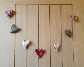 Handmade Hanging Hearts
