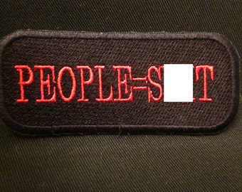 people= shi#  iron on patch