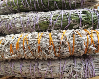 3 Smudge Stick Sage bundles - wild harvested organic white Sage