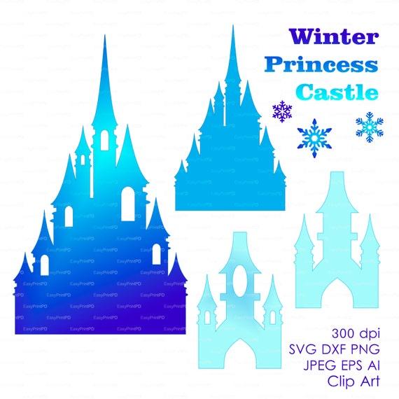 Princess Winter Snow Frozen Castle 300 Dpi Svg By