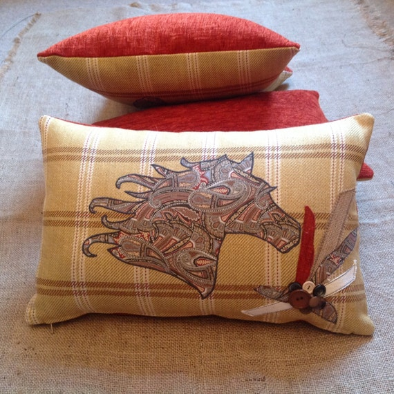 Country Rustic Bolster Cushion Cover Horse Head By Demiscraftz