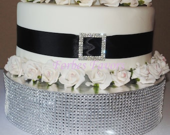 wedding cake ribbon with rhinestones bling cake ribbon etsy 23689
