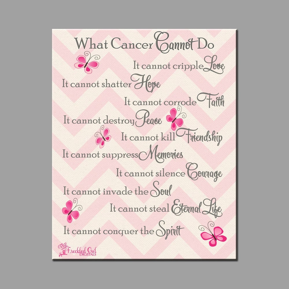 What Cancer Cannot Do Breast Cancer Awareness INSTANT