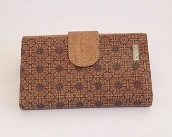 Blue Print Cork Clutch/Wallet