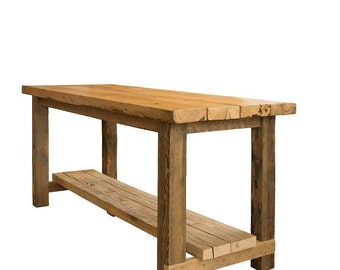 Restoration Hightop Kitchen Island in solid Hemlock by UrbanBarnhausDesign