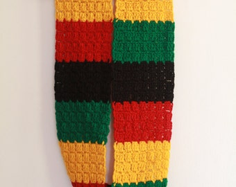 Infinity Knit Scarf in African Colors