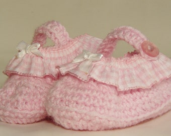 pink booties for baby girl