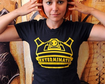 SALE!!  Geeky Robot Alien shirt.  Women's fitted American Apparel fitted size extra large