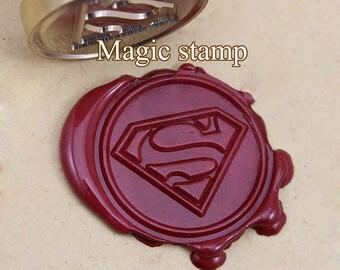 Superman Wax Seal Stamp, wedding stamp ,party wax seal stamp,initial wax seal stamp set (DZ049)