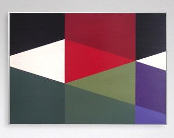 Original geometric abstract painting