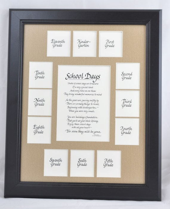 11x14 School Days Wood Picture Frame K 12 13 Openings