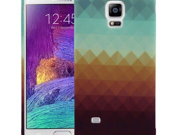 For Samsung Galaxy Note 4 Case, Pixel Waves TPU Silicone SkinPhone Case Cover