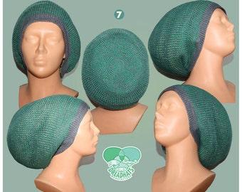 crochet linen dread hat