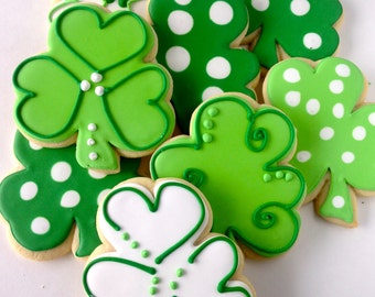 Shamrock Sugar Cookies St. Patrick's Day