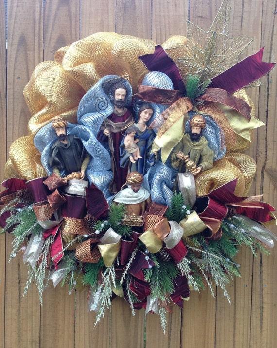 Etsy Deco Mesh Christmas Wreaths