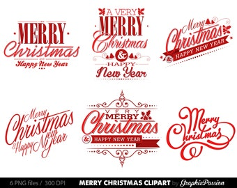 Christmas label clipart – Etsy UK