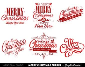 Christmas label clipart – Etsy UK