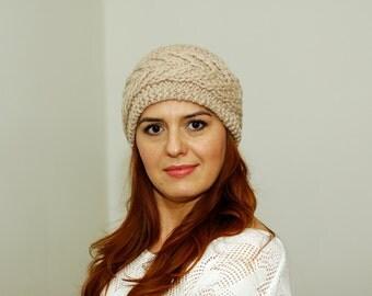 Chunky Knit Headband, Womens Ear Warmer, Warm Headband, Cosy Accessory, Wool Headband, Headwrap, Navy Bulky Knit