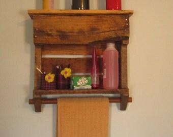 pallet towel rack etsy. Black Bedroom Furniture Sets. Home Design Ideas