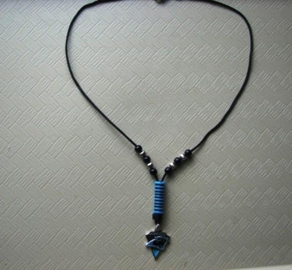carolina panthers necklace. Black Bedroom Furniture Sets. Home Design Ideas