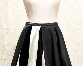 Cute circual skirt - gothic, punk - (68 cm waist)