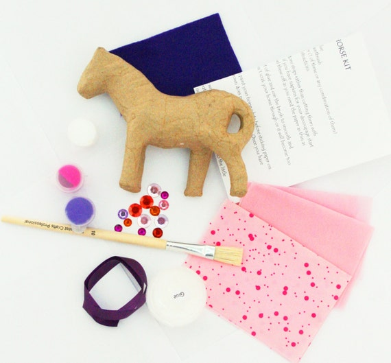 Decoupage horse kit do it yourself decoupage papier mache horse decoupage horse kit do it yourself decoupage papier mache horse decoating craft kit age 8 birthday project free p p in uk from makebelievestuffltd on solutioingenieria Choice Image