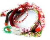 Yarn wrapped Necklace / Bohemian Necklace / Wearable Art / Multiple strand Bracelet  / Hippie Bohemian Necklace / Urban wraps / textile art