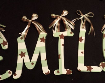 Custom painted nursery letters to match theme!