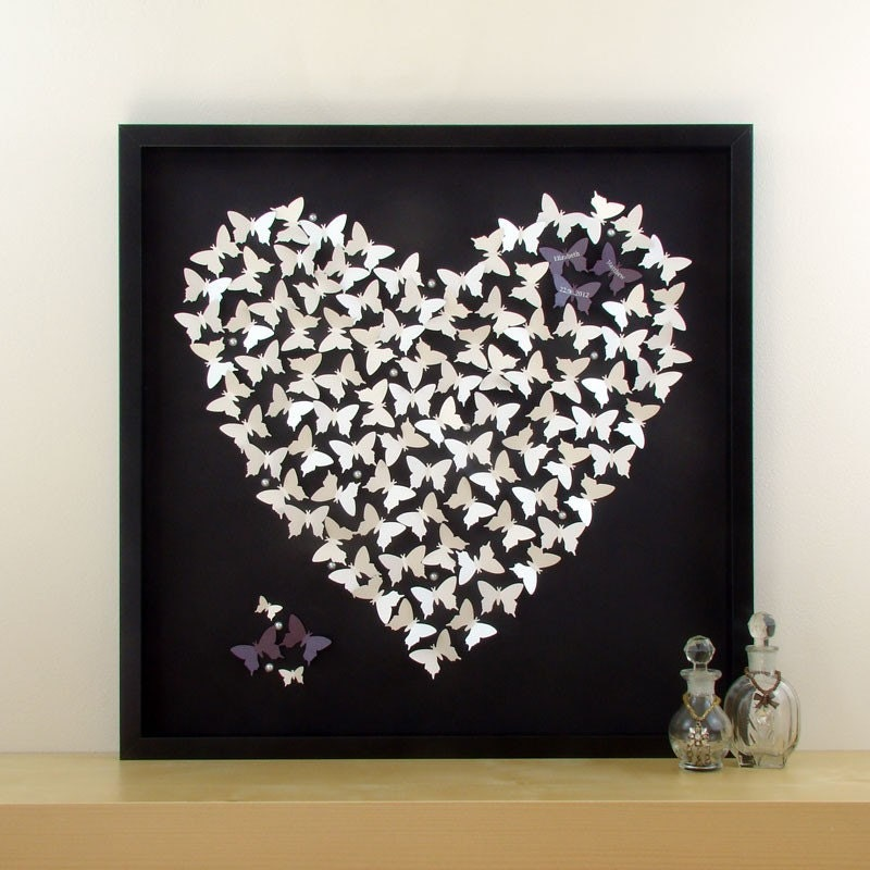 Wedding Gift Wall Art : Personalised 3D Butterfly Wall Art. Perfect Wedding Gift Idea