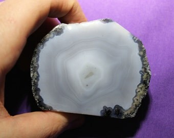 Sliced and Polished Agate Geode from Brazil - 2
