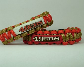 San Francisco 49ers NFL Paracord Bracelet