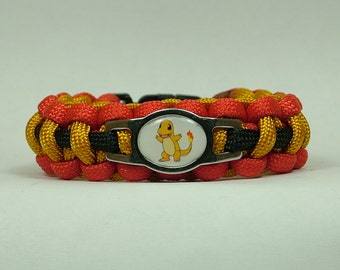 Pokemon Charmander  Survival Paracord Bracelet
