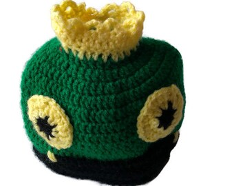 Crochet Hat Frog, Newborn Crochet Frog Hat, Animal Hat, Frog Children Hat, Crochet Hat, Baby Crochet Hat, Baby Hat, Ready to Ship