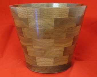 61 piece American Black Walnut segmented bowl by Specialty Turned Designs