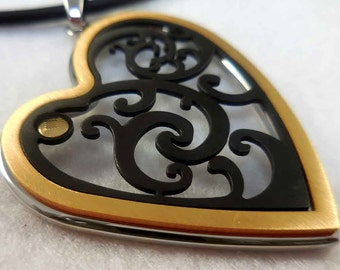 Sterling Silver Cut-Out Heart Necklace