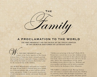 The Family Proclamation 11x14 Digital File LDS