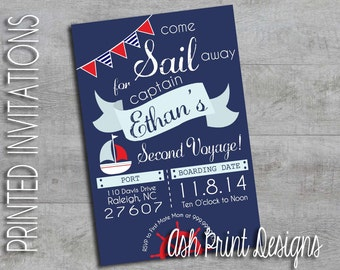 Sailor Nautical Birthday Invitation