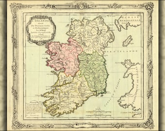 24x36 Poster; Map Of Ireland 1766 In Latin